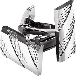 UHIBROS منسوجات کاف زنجیره ای از فولاد ضد زنگ فولاد جراحی دکمه های پیراهن لوکس اسپانیایی فرانسه برای مردان