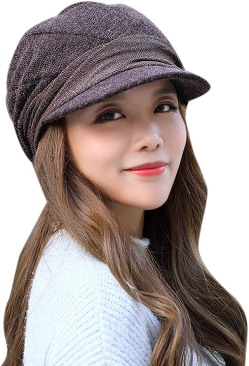 Melotizhi Winter Hats for Women, Fashion Knitted Woolen Beret Caps, Casual Warm Outdoor Hats