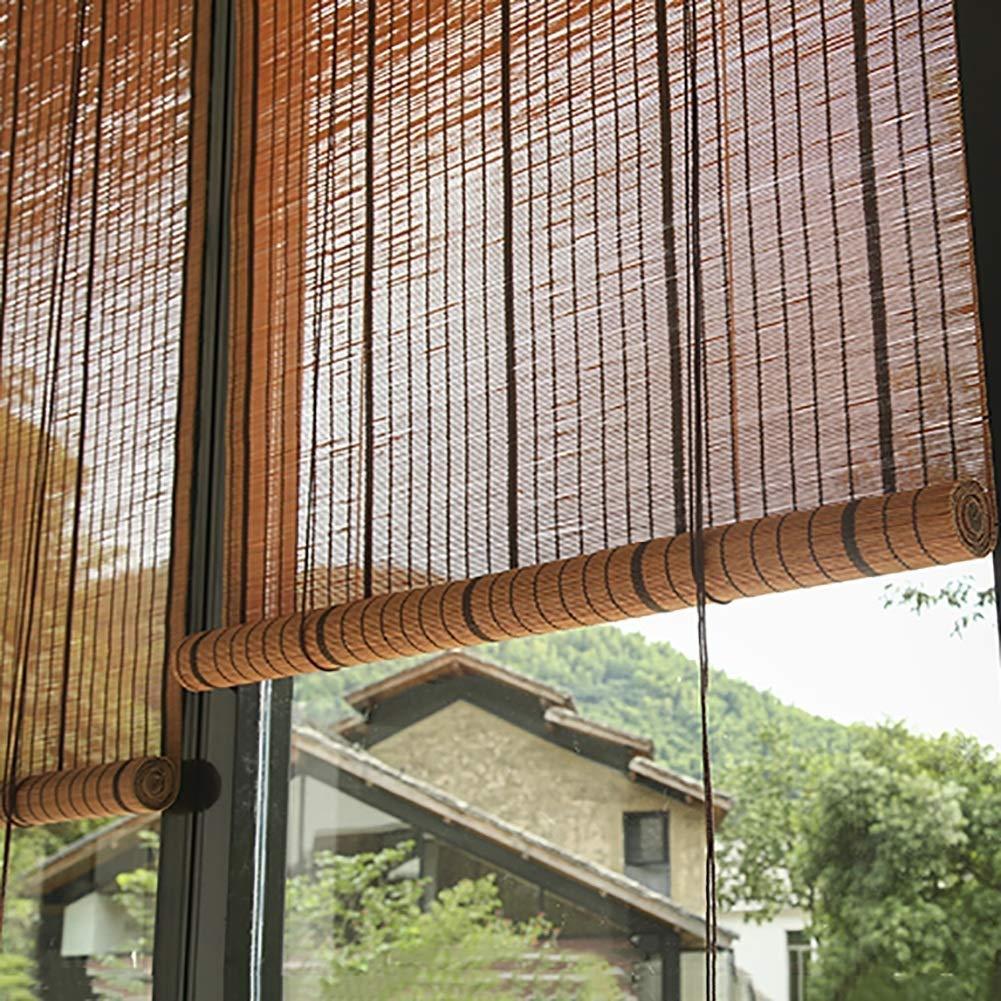 Persiana de bambú Persianas Enrollables para Cortinas De Patio con Porche Exterior, Accesorios, Sombra Exterior Enrollable para Cubierta Pergola Gazebo, 85cm / 105cm / 125cm / 145cm De Ancho: Amazon.es: Hogar