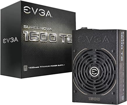 EVGA SuperNOVA 1600 T2, 80+ TITANIUM 1600W, Fully Modular, ECO Mode, 10 Year Warranty, Includes FREE Power On Self Tester, Power Supply 220-T2-1600-X1