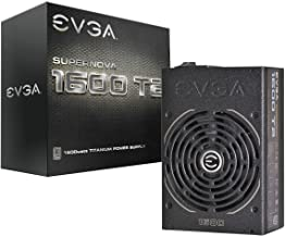 EVGA Supernova 1600 T2 80+ Titanium, 1600W ECO Mode Fully Modular NVIDIA SLI and Crossfire Ready 10 Year Warranty Power Su...