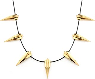 Eliana and Eli Black Panther Gold Necklace-Cosplay Black Panther Wakanda King T'Challa Pendant Necklace
