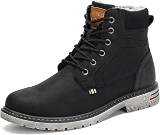 Mens Womens Winter Anti-Slip Leather Warm Snow Boots...