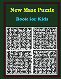 New Maze Puzzle Book for Kids: Challenging Mazes for Kids Ages 6-10 - Exercise Your Mind - (Maze Learning Activity Book fo...