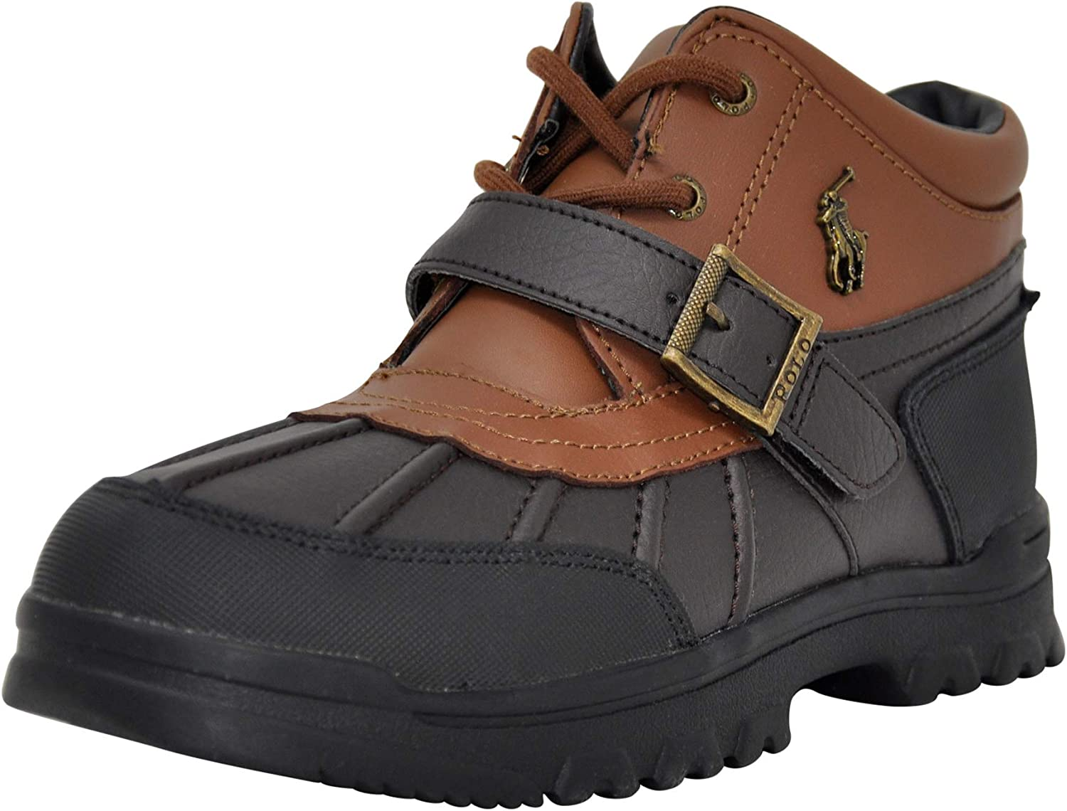 Max 68% OFF Polo Ralph Lauren Unisex-Child Now on sale Boys Boot Dover Chocolate Tan Le