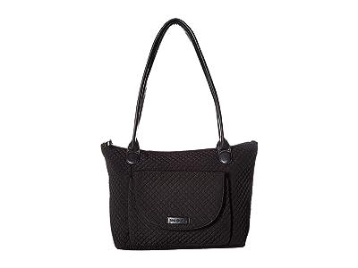 Vera Bradley Carson East/West Tote (Classic Black) Tote Handbags
