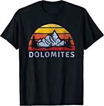 Dolomites Retro Mountain Sunset T-Shirt