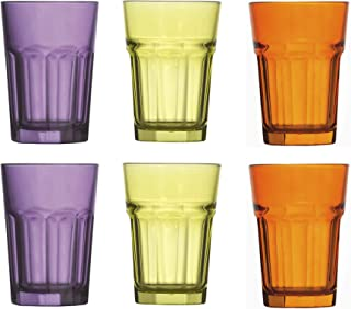 Topkapi Miami Party Nights 250.880 Lot de 6 verres XL 36 cl pour cocktail, long drink, mojito, jus, eau, hauteur ~ 12 cm