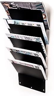 ECHTSTAHL Trik Design tijdschriftenstandaard & krantenrek voor woonkamer, dokterspraktijken, hotels