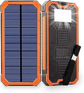 Pealiker Chargeur Solaire Portable 10000 mAh Batterie