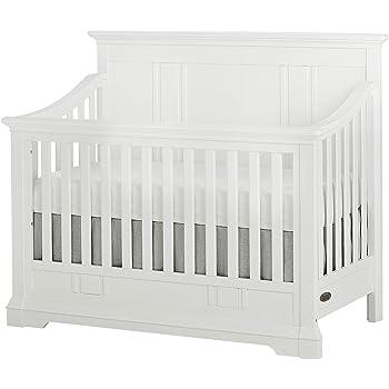 Evolur Parker 5 in 1 Convertible Crib, Winter White