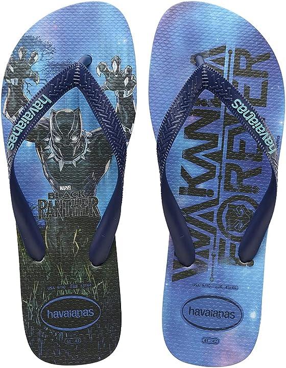 Infradito havaianas black panther hav top marvel navy blue infradito unisex-adulto 4139511