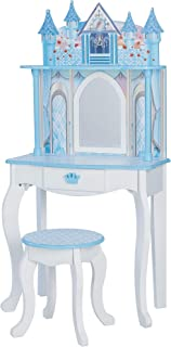 Teamson Kids - Dreamland Castle Toy Vanity Set - White/ Pink