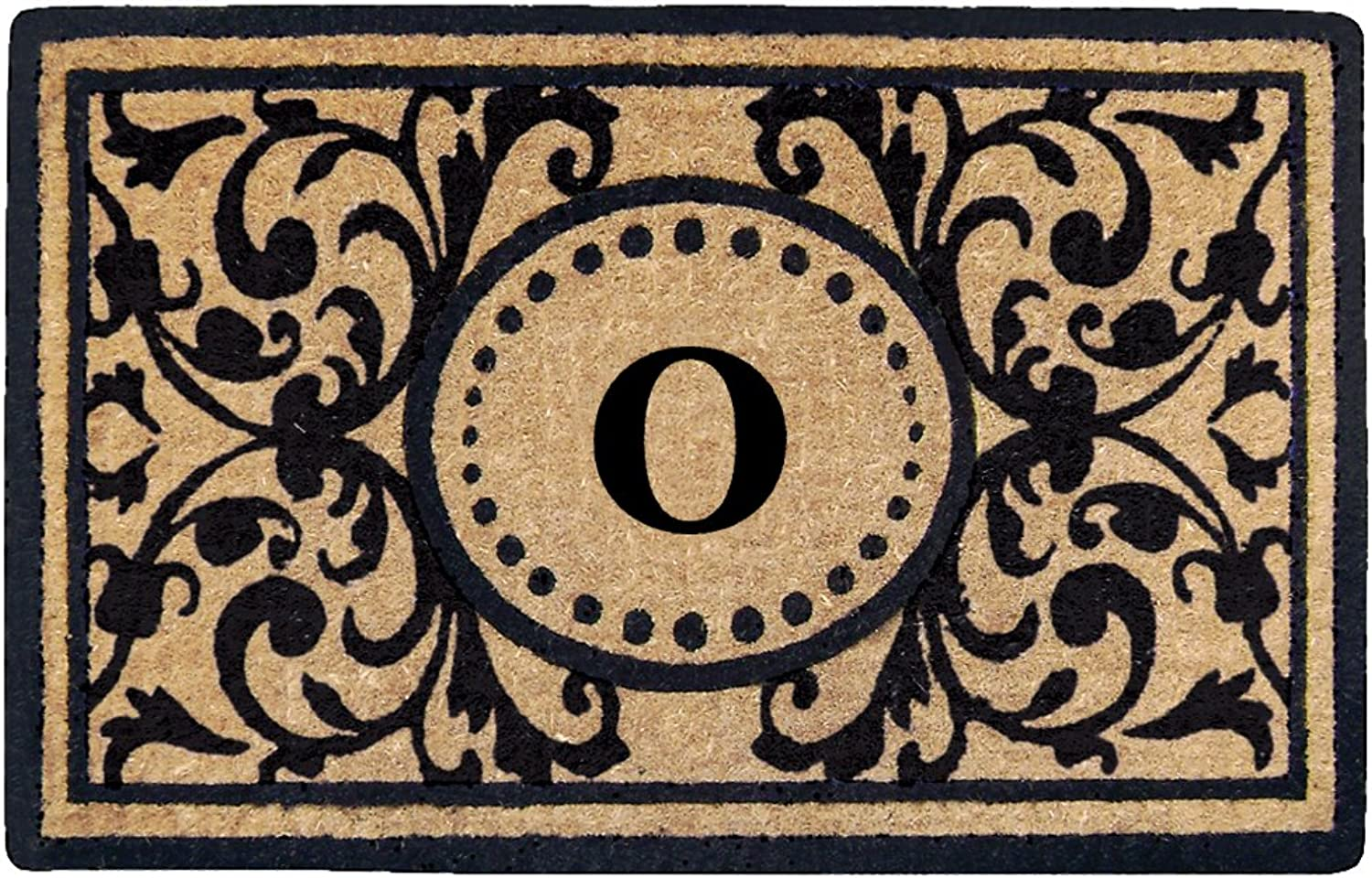 Creative Accents Heavy Duty Heritage Coco Mat, Monogrammed O, 18 x 30