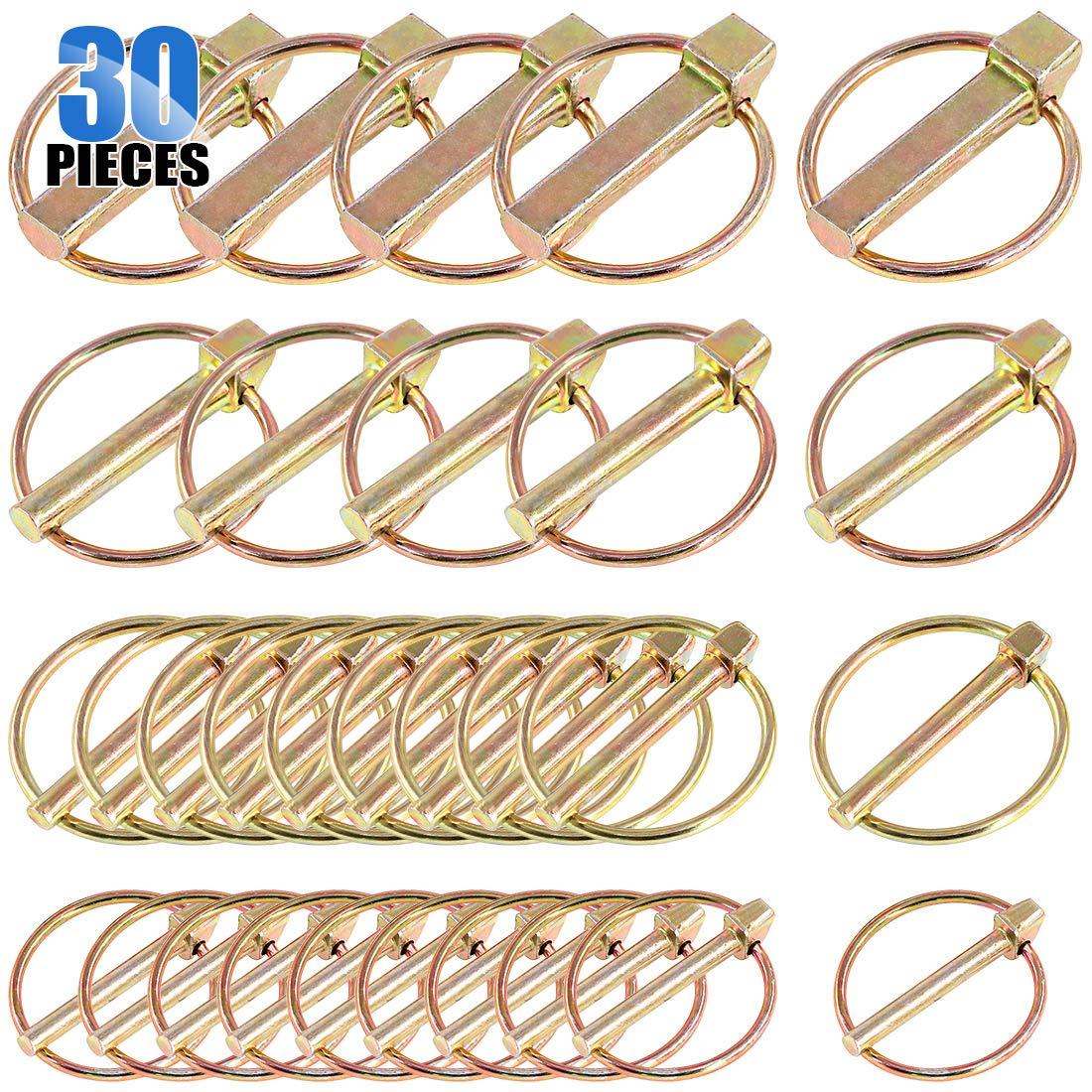 Ranking TOP5 Glarks 30Pcs Heavy Duty Lynch Pin 55% OFF Kit Assortment Tracto for Farm