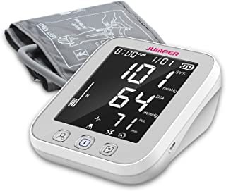 Blood Pressure Monitor Upper Arm Large Cuff - Fully Automatic Blood Pressure Machine with LED Backlight - BP Monitors Kit - 2 Users, 99 Memory