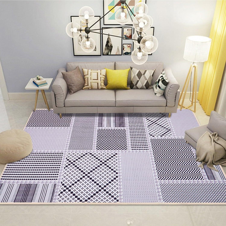 Floor mats Bedroom Floor mats, Bay Window mat Rectangular Pattern Floor Rug-B 140x200cm(55x79inch)
