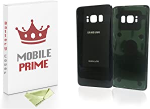 MobilePrime Black Replacement Back Glass Back Cover Compatible for Samsung Galaxy S8