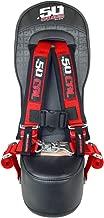 50 Caliber Racing Polaris RZR 570, 800 & XP900 Front/Rear Bump Seat with RED 2
