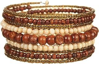 DCA Wood/Glass Multicolor Women Bangle/Bracelet (1128)