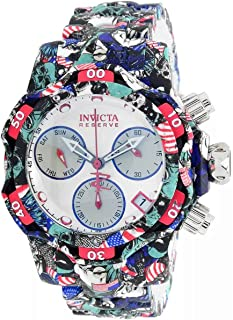Invicta Women's Reserve Venom Quartz Diving Watch with Stainless Steel Strap, Silver, Aqua Plating, 20 (Model: 34651)