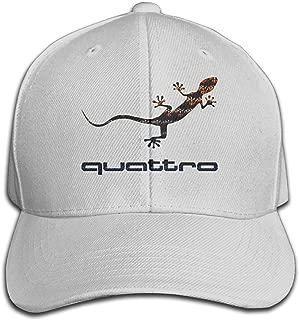 BACADI Unisex Audi Quattro Gecko Logo Adjustable Peaked Baseball Caps Hats Duck Tongue Hat