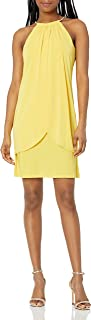 kensie Dress Women's Ity Dress with Chain Necklace