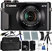 Canon PowerShot G7 X Mark II Digital Camera - 32GB Bundle 18PC Accessory Kit Which Includes Two Replacement NB-13L Batteries, 5 Piece Camera Cleaning Kit, More