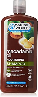 Natural World Macadamia Oil Ultra Nourishing Shampoo, 500 ml