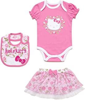 Baby Girls' 100% Cotton 3 Piece Skirt Set