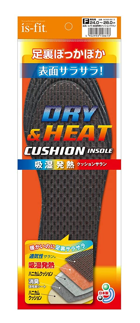アクセスできないトークンすずめis-fit(イズフィット) 吸湿発熱クッションサラン 男性用 フリー(24.0cm~28.0cm)