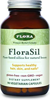 FLORA - FloraSil, Skin & Bone Nutrients, Vegan, Non-GMO, Silica, 90 Count