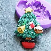 September Christmas Tree Fondant Cake Silicone Molds 3D Plaster Moulds Soft Ceramic Mould Mousse Mould