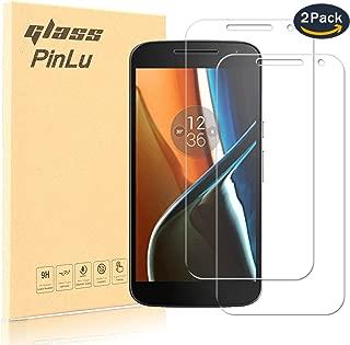 pinlu® [2 Pack] Film Protection en Verre trempé écran Protecteur Vitre Pour Lenovo Moto G4 (5.5 pouce) Glass Protector Haute transparence, Super Résistant, sans Bulles d'air [0.26mm/9H]