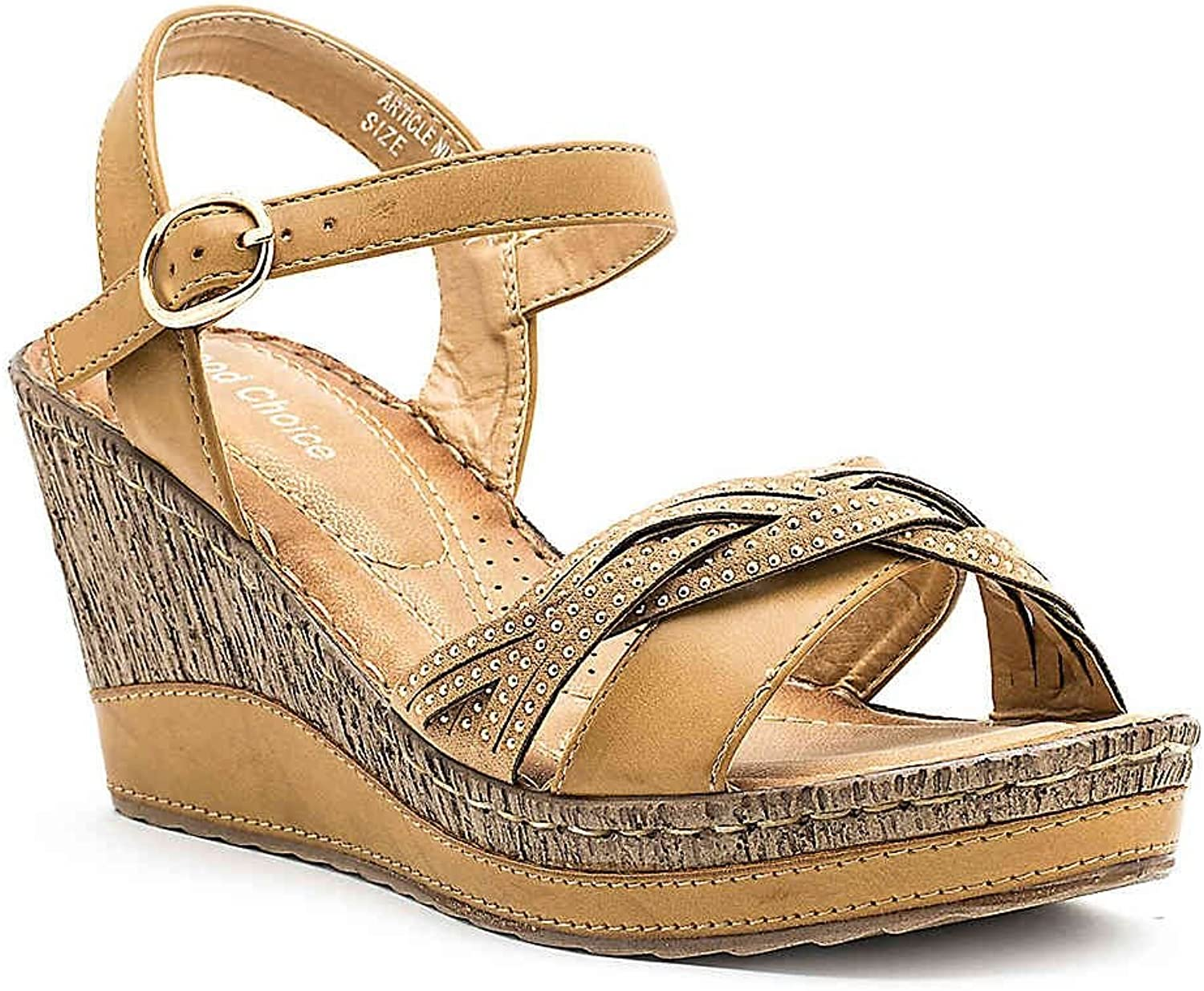 Gc shoes Moxie Platform Wedge Comfort Sandal with Ankle Strap