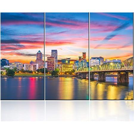 Portland art poster print Skyline Cityscape Oregon wall decor Travel Gift