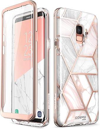 Samsung Galaxy S9 Case, [Built-in Screen Protector] i-Blason [Cosmo] Full-Body Glitter Sparkle Bumper Protective Case for Galaxy S9 (2018 Release) (Marble)