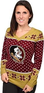 FOCO NCAA Women's Big Logo V-Neck Sweater, Pick A Team