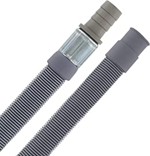 Rallonge de tuyau d'écoulement - 1 m de diamètre - 19/19-22 mm de diamètre - 20 ° à + 90 °C - Pour lave-vaisselle et machi...