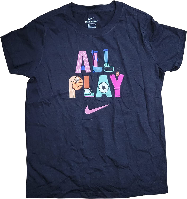 Nike All Play Big Girls Shirt Size Large Black