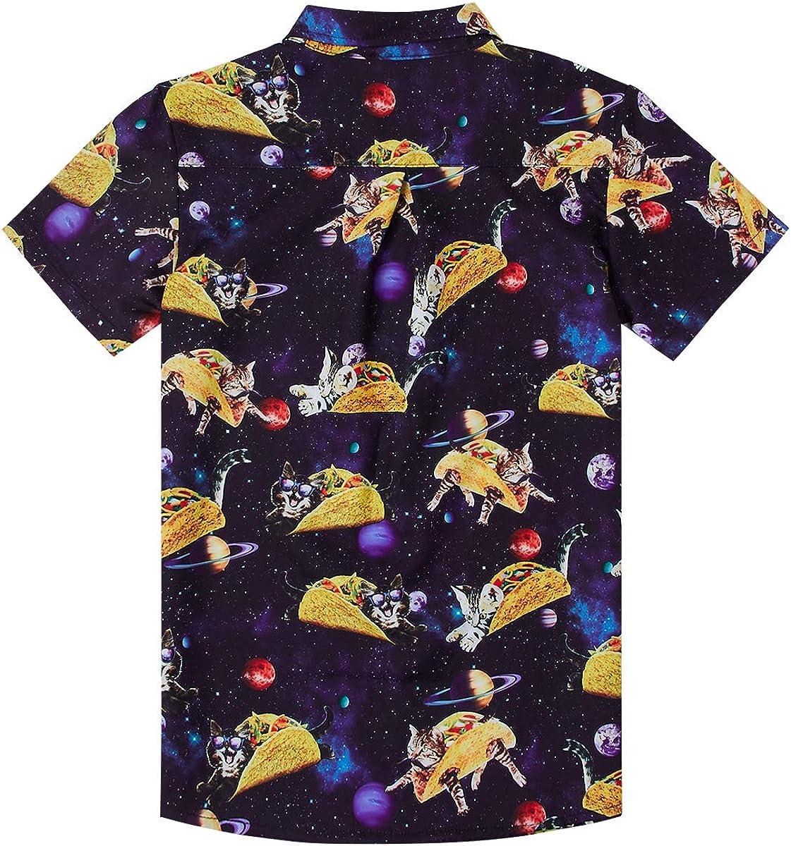 uideazone Boys Free shipping New Hawaiian Shirts Novelty Gorgeous Printed Sleev Short Funky