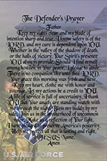 The Defender's Prayer Journal - Air Force: Airman's Prayer Blank Lined 6x9 150 Page Military Notebook Logbook, Deployment Combat Diary To Write And Record Your Thoughts (Armed Forces Journals)