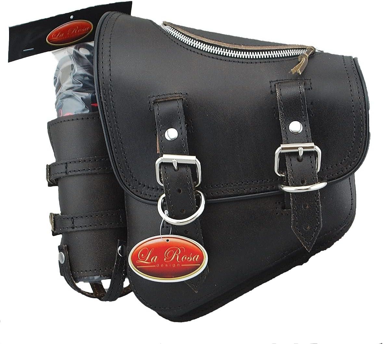 SSBBL08ZBH-4 La Rosa Design Leather TOP Max 41% OFF LEFT SIDE lowest price Saddlebag ZIPP