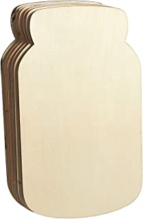 Unfinished Wood Cutout - 6-Pack Mason Jar Shaped Wood Pieces for Wooden Craft DIY Projects, Home Decoration, 11.625 x 7 x 0.188 inches