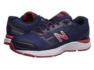 New Balance Kids 680v5 (Little Kid/Big Kid) (Pigment/Velocity Red) Boys Shoes