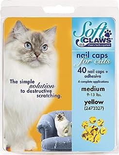 Soft Claws Feline Cat Nail Caps Take Home Kit, Medium, Yellow