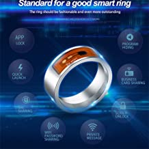 Flurries NFC Multifunctional Intelligent Ring, Magic Mood Waterproof Dust-Proof Fall-Proof Wearable Smart Wear Finger Digital Ring Intelligent Devices Mobile Android Smartphone App Enabled