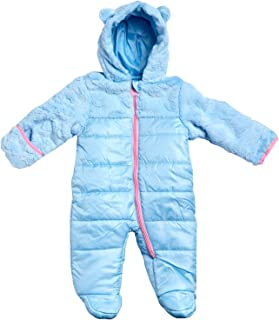 Wippette Baby Girls Snowsuit Poly Filled Pram with Fur Trim