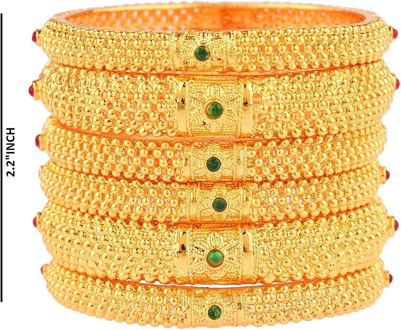 Efulgenz Indian Bangle Set Bollywood Traditional Bracelet Jewelry for Women