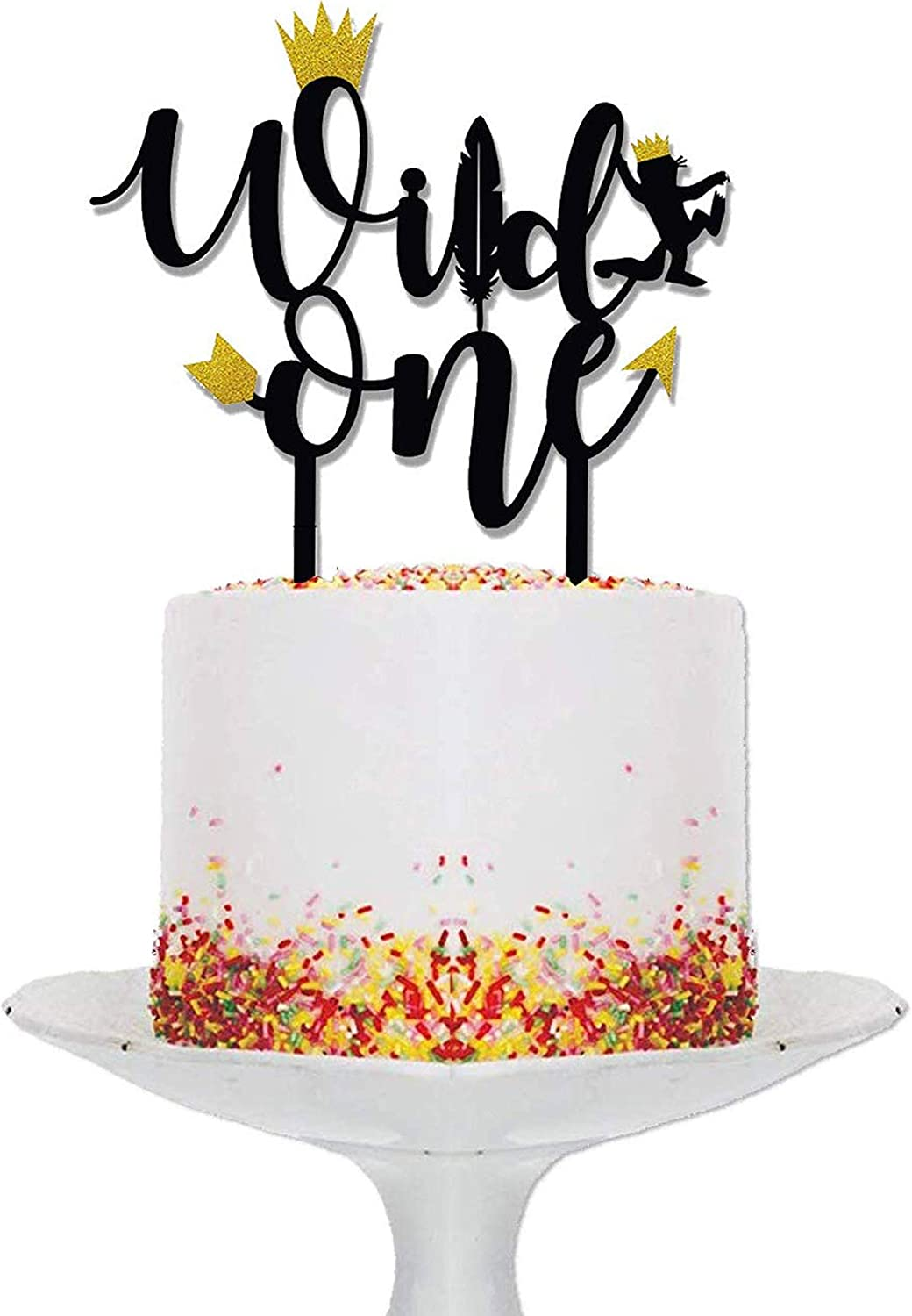 Wild One Birthday Decorations I Topper Fees free Tucson Mall Black and Cake